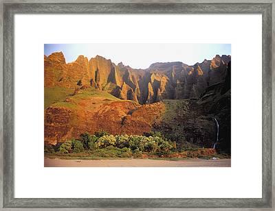 Kalalau Mountains Framed Print by Himani - Printscapes