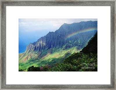 Kalalau Valley Viewpoint Framed Print by Rita Ariyoshi - Printscapes