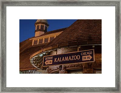 Kalamazoo Transportation Center Framed Print