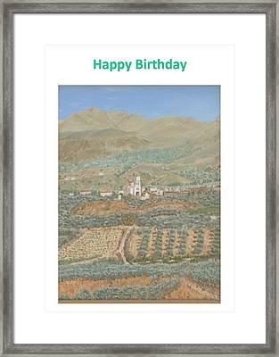 Kalamitsi Birthday Card Framed Print