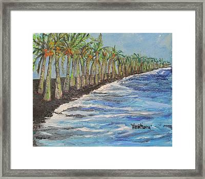 Kalapana Beach Framed Print
