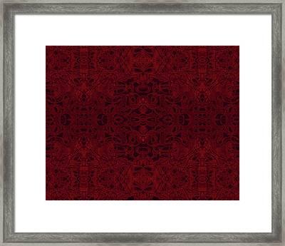 Kaleid Abstract Reverence Framed Print
