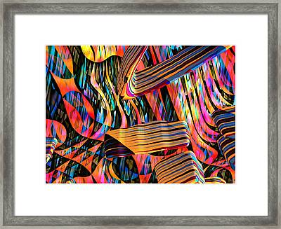 kaleido Calligraph 10x11m3n27m5aa Framed Print by Terry Anderson