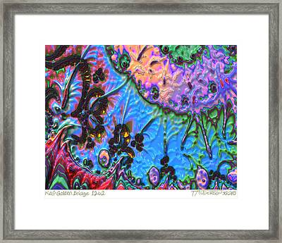 kaleido fa-GoldenBridge12b2 Framed Print by Terry Anderson