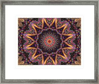 kaleido Perf10 9cAvi 44 Framed Print by Terry Anderson