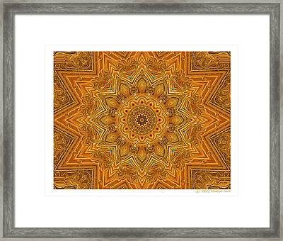 kaleido Prf10 X7x 17b Framed Print by Terry Anderson