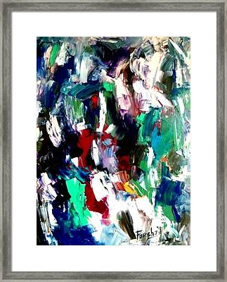 Kaleidoscope - Dream Of A Diverse Harmony Framed Print by Fareeha Khawaja