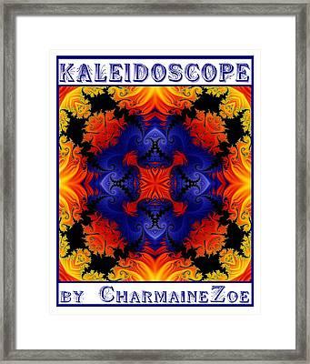Framed Print featuring the digital art Kaleidoscope 1 by Charmaine Zoe
