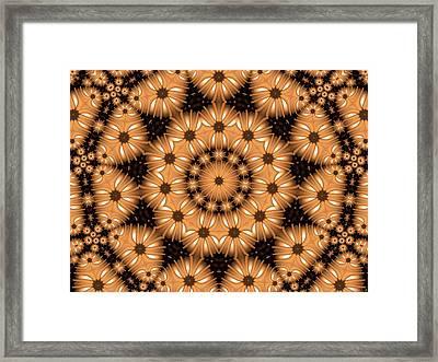 Framed Print featuring the digital art Kaleidoscope 131 by Ron Bissett