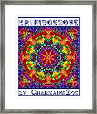 Framed Print featuring the digital art Kaleidoscope 2 by Charmaine Zoe