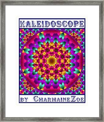 Framed Print featuring the digital art Kaleidoscope 3 by Charmaine Zoe