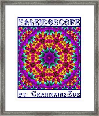 Framed Print featuring the digital art Kaleidoscope 4 by Charmaine Zoe