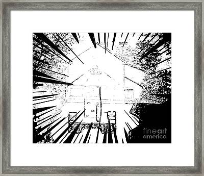 Kaleidoscope Affect Abstract Framed Print by Debra Lynch