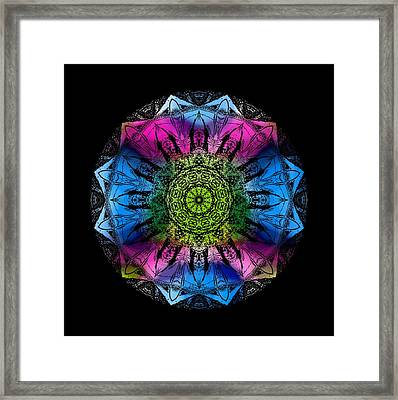 Kaleidoscope - Colorful Framed Print