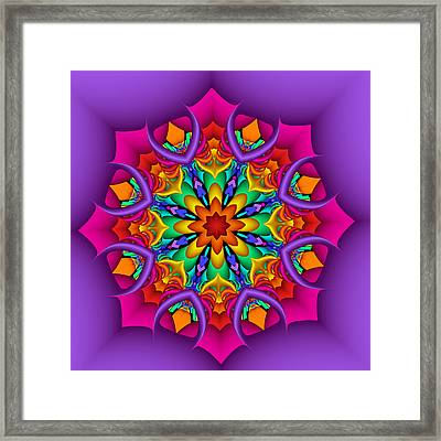 Kaleidoscope Flower 01 Framed Print
