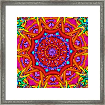 Kaleidoscope Flower 02 Framed Print
