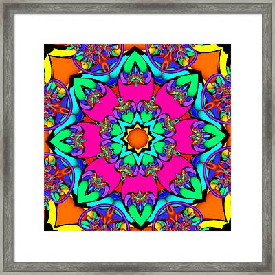 Kaleidoscope Flower 03 Framed Print