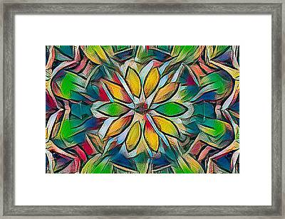 Kaleidoscope In Stained Glass Framed Print