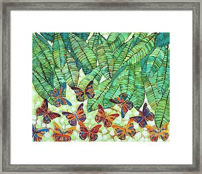Kaleidoscope Of Butterflies Framed Print