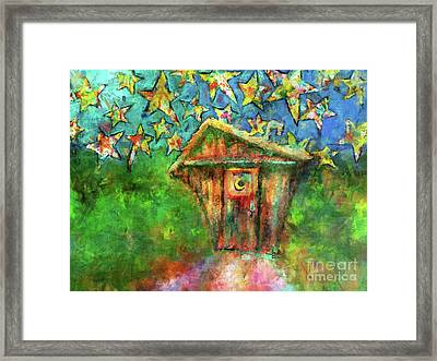 Kaleidoscope Skies Framed Print by Claire Bull