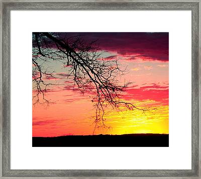 Kaleidoscope Skies Framed Print by Kimmy Hutchins