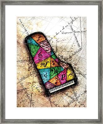 Kaleidoscope Sonata Framed Print by Gary Bodnar