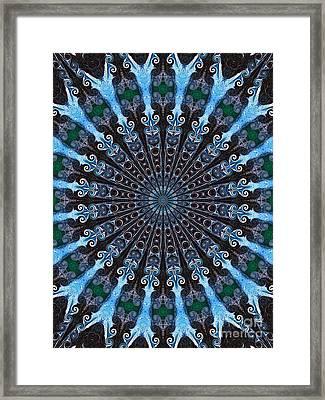 Kaleidoscope Water Swirl Framed Print