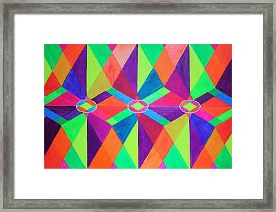 Kaleidoscope Wise Framed Print by Ann Sokolovich