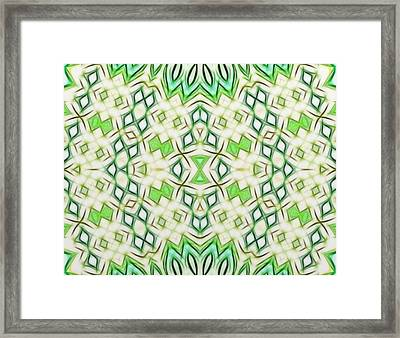 Kaleidoscope With A Tribal Flair Framed Print by Gina Lee Manley