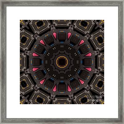 Kaleidoscopic Calculator Framed Print by Rolf Bertram