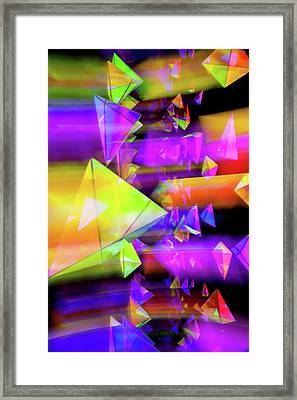 Kaleidoscopic Mind Framed Print by Az Jackson
