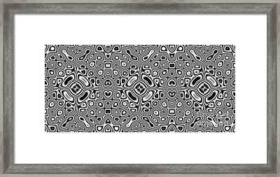 Kaleidoscopic Pattern Framed Print