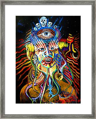 Framed Print featuring the painting Kali by Amzie Adams