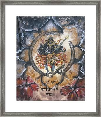 Kali And Ouroboros  Framed Print