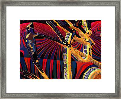 Kali-fa-callig10x11m8 Framed Print by Terry Anderson