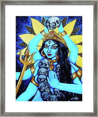 Kali- The Dark Goddess Framed Print by Christina Marin