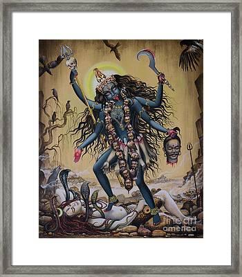 Kali Framed Print by Vrindavan Das