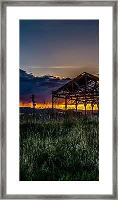 Kalispell Mill Triptych Framed Print