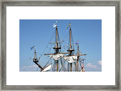 Framed Print featuring the photograph Kalmar Nyckel - Docked In Lewes Delaware by Brendan Reals