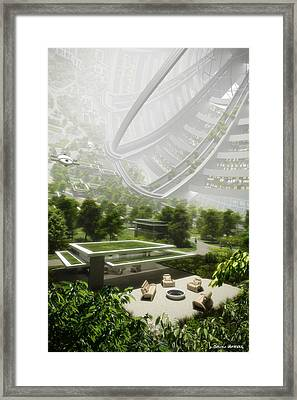 Framed Print featuring the digital art Kalpana One Houseing by Bryan Versteeg