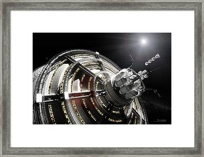Kalpana One Port Framed Print by Bryan Versteeg