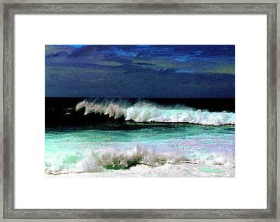 Kaluakoi Surf Framed Print by James Temple