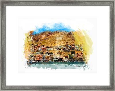 Kalymnos Greek Island Framed Print by Justyna JBJart