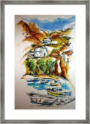 Kalymnos Framed Print by Therese Alcorn