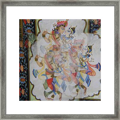 Kama Sutra Thrice Framed Print by Sean-Michael Gettys