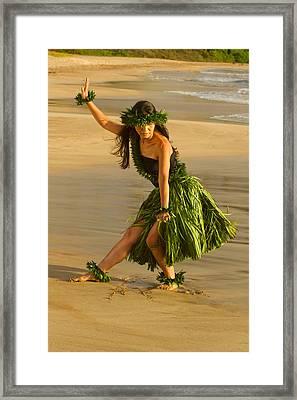 Kamalani At Palauea Framed Print