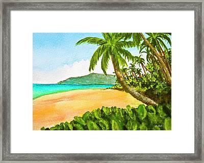 Kamaole Beach Maui Hawaii Art Painting #349 Framed Print by Donald k Hall
