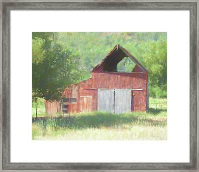 Kamas Barn Dop Framed Print