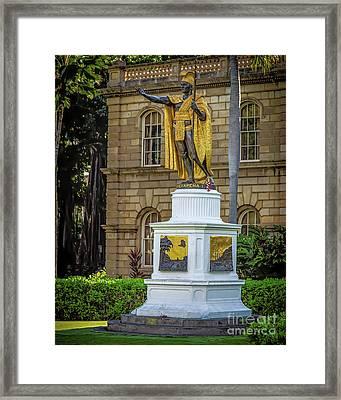 Kamehameha The Great Framed Print by Jon Burch Photography
