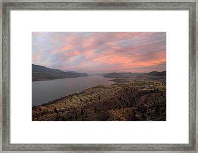 Kamloops Lake British Columbia Canada Framed Print